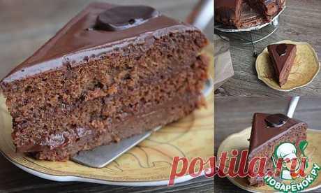 """Бисквит """"Шоколадница"""" с карамельно-шоколадным ганашем. Автор: Екатерина Карчевская"""
