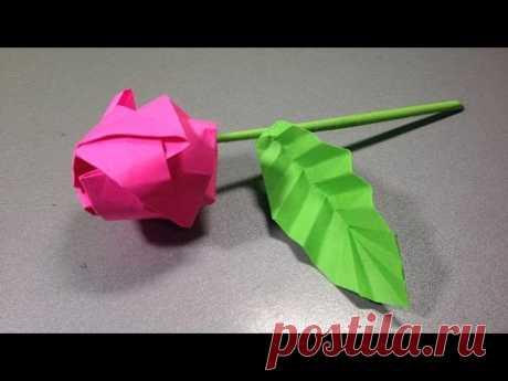 Роза оригами. Оригами из бумаги роза схема. Rose origami. Origami scheme how to make rose.