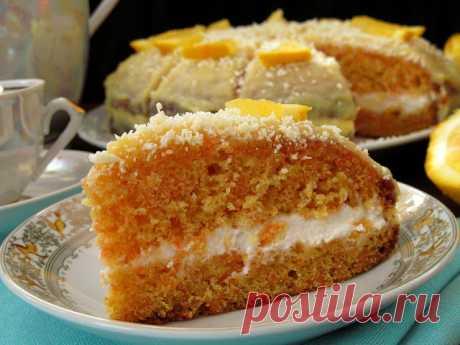 Постигая искусство кулинарии... : Морковный тортик со сметанным кремом и апельсиновой помадкой