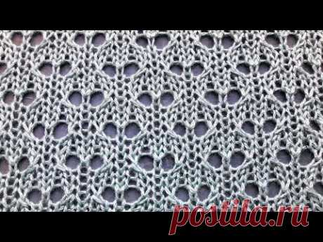 Laconic openwork knitting pattern for beginners