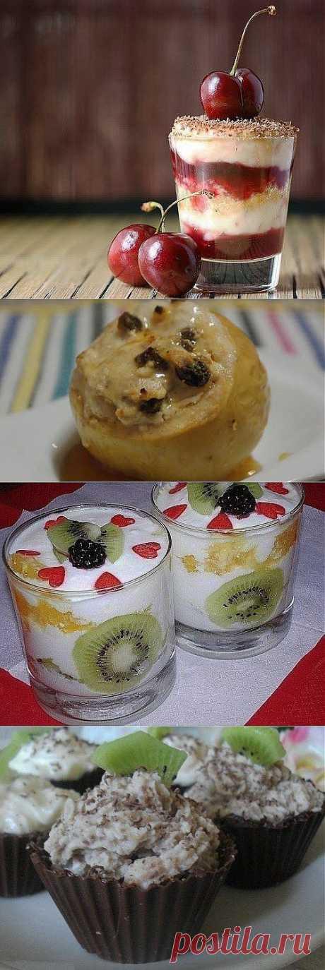 Вкусные творожные десерты
