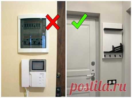 Как эстетично спрятать щиток в квартире, чтобы он не портил вид прихожей