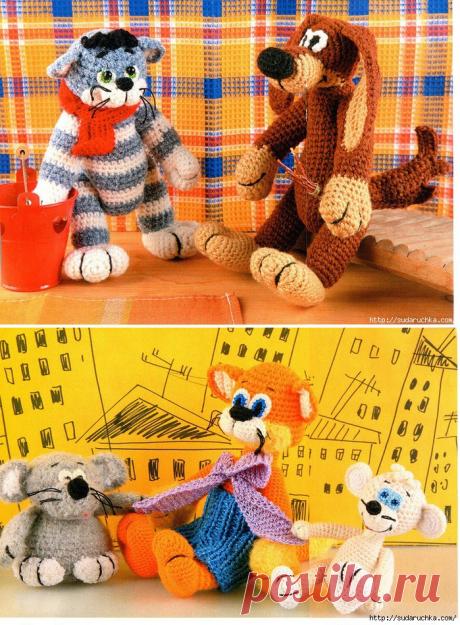 кот, Матроскин и Шарик и Леопольд и Мыши