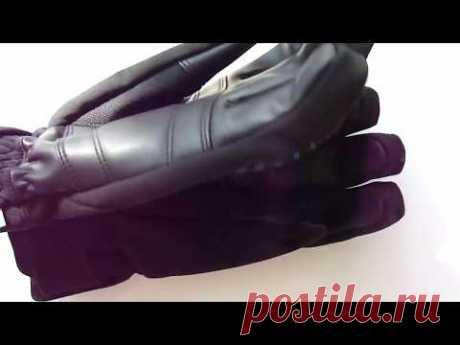 Горнолыжные перчатки Reusch Sportif Softshell R-TEX XT (черные с синими полосками) 1050грн