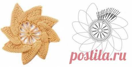 Подборка простых цветочных схем из категории Интересные идеи – Вязаные идеи, идеи для вязания