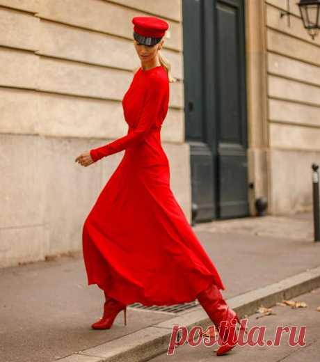 30 модных и эксцентричных осенних образов в красном цвете