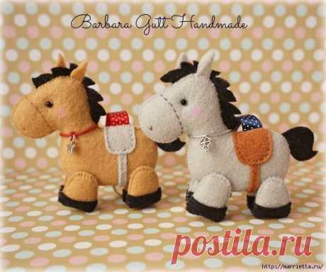 Милые лошадки + выкройка