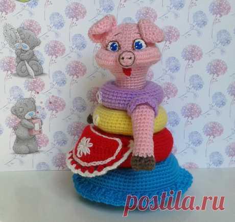 """Пирамидка """"Тётушка Хавронья"""" - МК по вязанию игрушек - Форум почитателей амигуруми (вязаной игрушки)"""