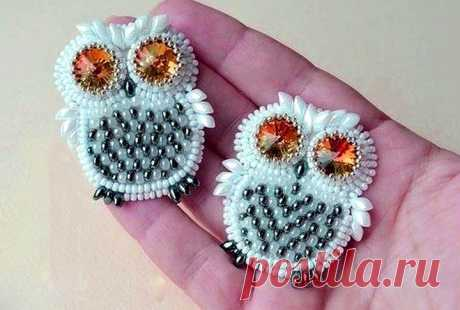 How to make a brooch from beads with own hands for beginners | 33 Hand-made articles