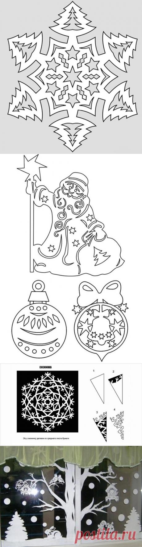 Украшение окон к Новому 2018 году – шаблоны (трафареты) для распечатывания: Как украсить окна на Новый год своими руками в детском саду, школе и дома