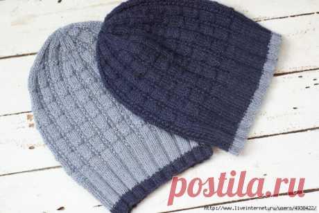 """Мужская шапка """"Edge"""" спицами  #шапка_мужская@knit_man, #шапка_спицами@knit_man  Источник: https://www.liveinternet.ru/users/4045844/post4239124.."""