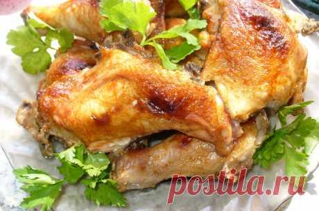 Кулинарная Академия Умных Хозяек: Курица запеченная в духовке «Красна девица»