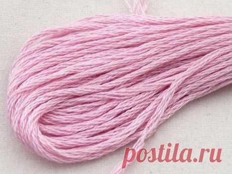 """Нитки для вышивания """"Gamma"""" мулине, 480 г, 1800 м, цвет: розово-сиреневый"""