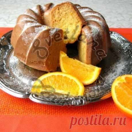 Кекс на кефире с апельсиновой цедрой - МирТесен