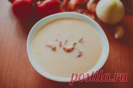 Сырный супчик с креветками   edahub.ru
