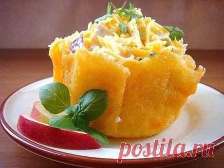 Как приготовить сырные корзиночки - рецепт, ингредиенты и фотографии
