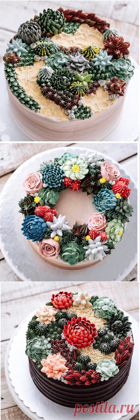 These so beautiful cakes that over them it is even terrible to breathe