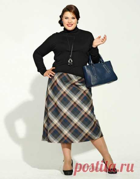 Юбки-миди для полных женщин: как и с чем носить, чтобы выглядеть стройнее и моложе | Самошвейка | Яндекс Дзен