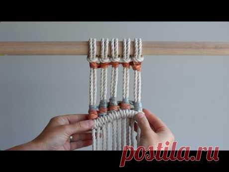 Включение шелковых лент с использованием вертикальных узлов !