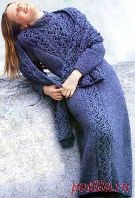 Вязаные платья. Описание и схемы. | Магия Вязания / Knitting Magic | Яндекс Дзен