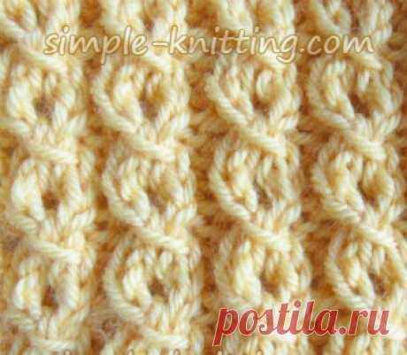 Имитация косой строчки - вязание красивой косой строчки