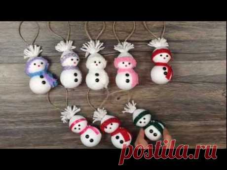 DIY: How to make Snowman ornaments out of socks very easy / Muñeco de nieve con calcetines - YouTube