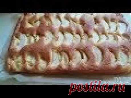 Яблочный пирог.очень простой в приготовлении.