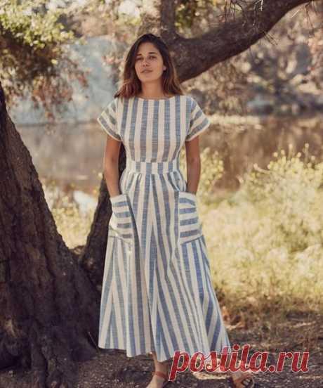 Летние полосатые платья. Фасоны для вдохновения