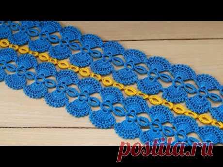КАК СОЕДИНЯТЬ ленточное кружево  ВЯЗАНИЕ КРЮЧКОМ мастер-класс CROCHET ribbon lace connection