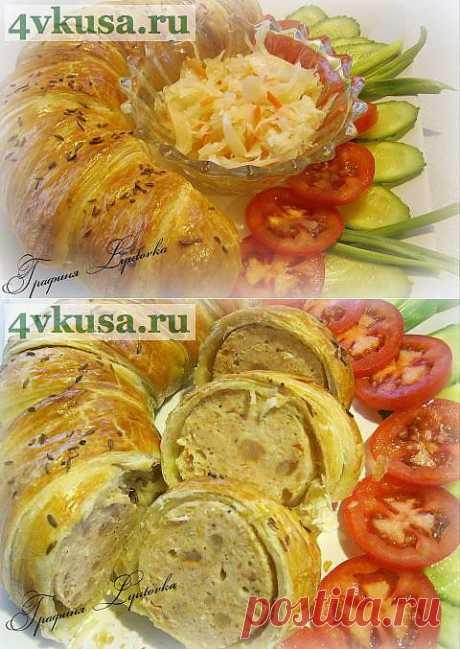 Chicken sausage roll | 4vkusa.ru