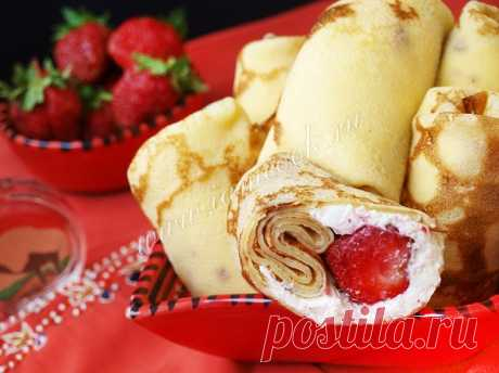Блины на сыворотке с творожной начинкой — рецепт с фото пошагово