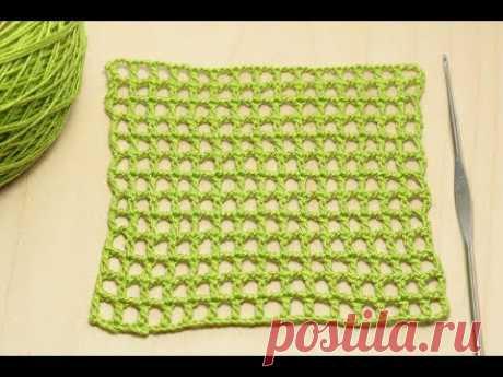 Вязание филейной сеточки - мастер класс для начинающих вязание крючком  How to Crochet for Beginners - YouTube