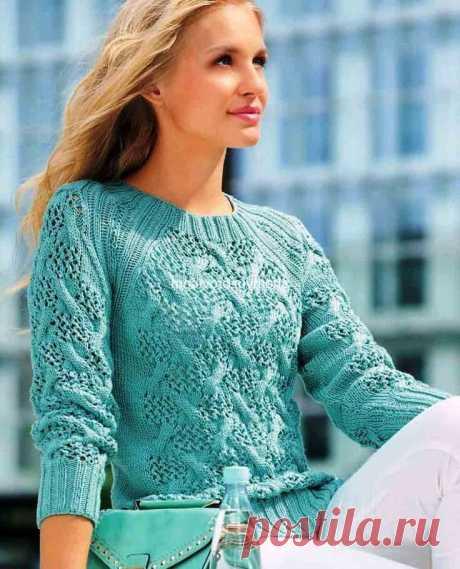 Пуловеры с очень красивыми узорами (вяжем спицами) | Южная сова | Яндекс Дзен