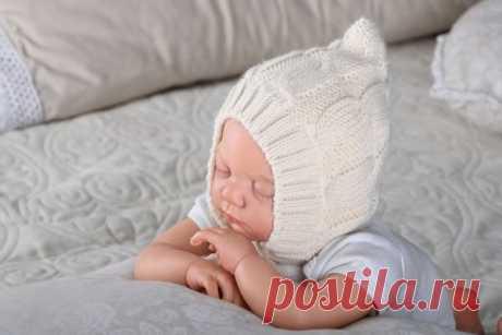 Вязание спицами для детей до 1 года 🥝 с описанием, связать шапочку новорожденному на спицах, зимняя шапка для новорожденных, мальчику, девочке
