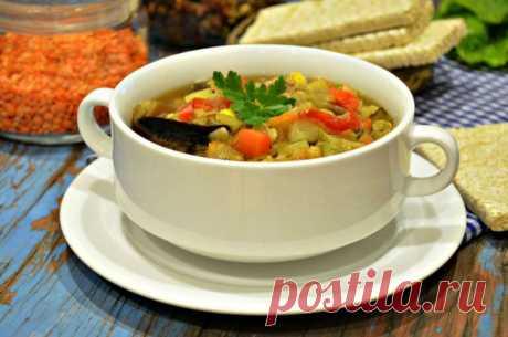 Постный согревающий овощной суп