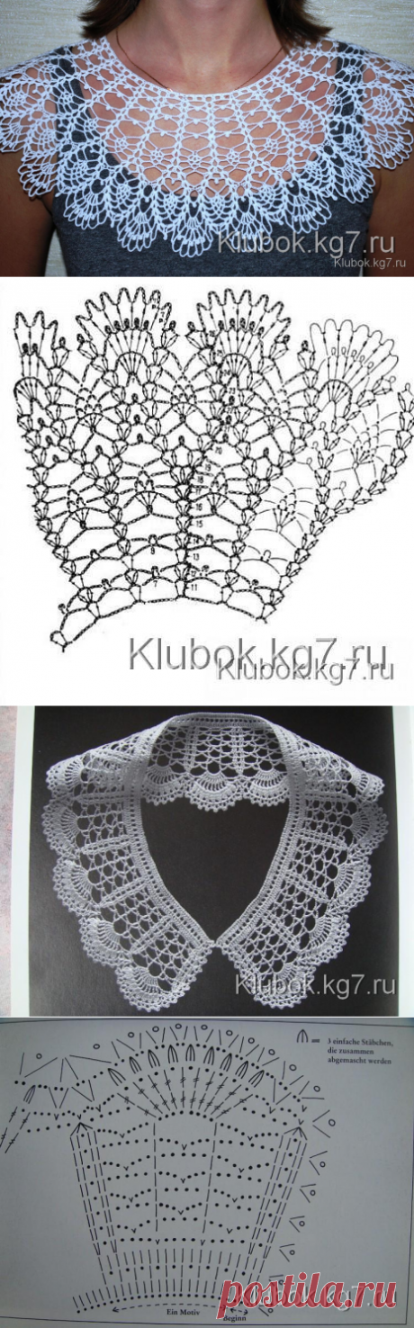 The most beautiful openwork collars with schemes