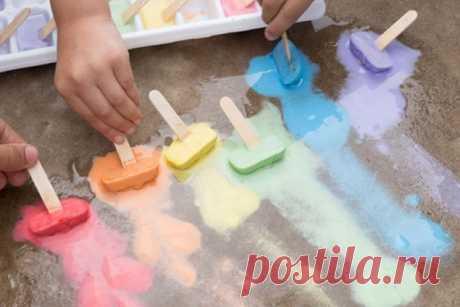 Как рисовать мелом креативно - 5 идей с детьми