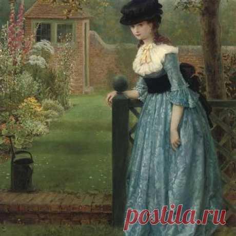 """Clarissa"" by George Dunlap Leslie, 1865"