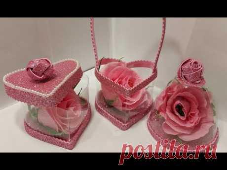3 ИДЕИ поделок из БУТЫЛОК ПЛАСТИКА своими руками diy подарки на День Матери,8 Марта.Цветы бумаги DIY
