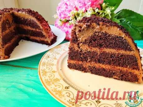 Быстрый воздушный торт без миксера Кулинарный рецепт