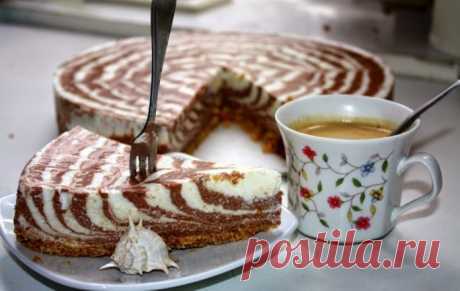 Красивый и вкусный творожный торт без выпечки. Превосходный десерт на праздничный стол!