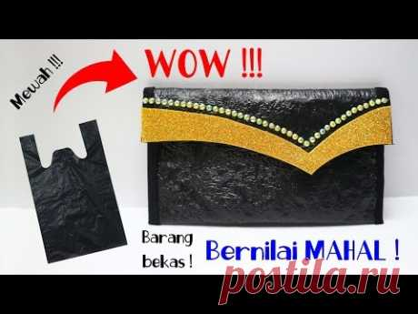 DOMPET Dari PLASTIK Tanpa Jahit ! Cluth Kresek | POUCH from PLASTIC shopping Bags | Plastic waste - YouTube