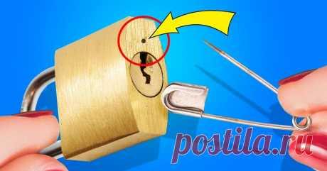 34 простых способа открыть что угодно Как часто мы теряем ключи в самый ответственный момент? Свежая подборка бытовых хитростей поможет без труда отпереть любой замок подручными средствами.