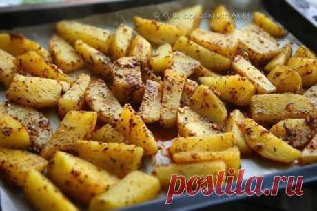Запись на стене Запеченный картофель по-турецки.Очень вкусный, ароматный и нежный картофель получается по этому рецепту.Сверху получается корочка, а внутри нежная картошечка.И аромааааааат .....ммммммм.......Вам потребуется:1-1,2 кг картофеля1 ч.л. тимьяна (kekik по-турецки)..
