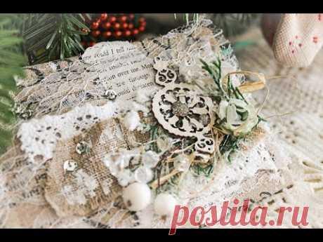 Мастер класс по новогодней мягкой открытке в эко стиле