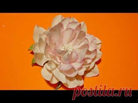Fabric flowers: how to make/Very easy!tutorial/Цветы из ткани: очень легко. - YouTube