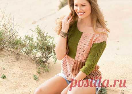 Женские пуловеры в стиле пэчворк спицами – 4 схемы вязания с описанием