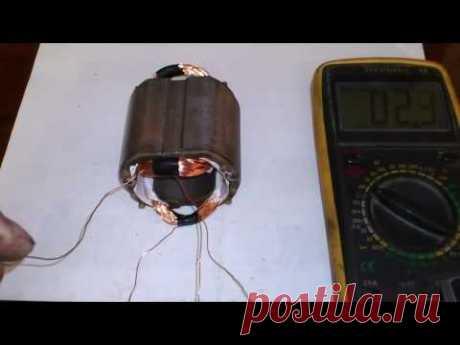 peremotka del estátor (USHM) las búlgaras, sobre la rodilla. Motor rewinding