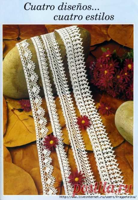 очень красивая обвязка юбок и края изделия крючком