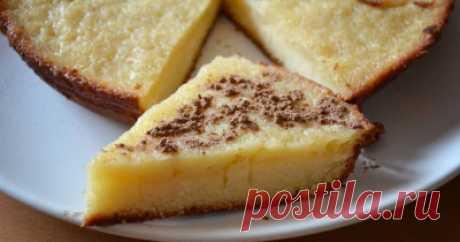 Манник Одностаканник на сметане - Сладкие пироги и кексы